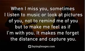 i miss you love saying