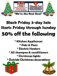 Mr. G's Warehouse - Black Friday 3 Day Weekend Sale! Please share ...