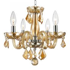 clarion collection 4 light chrome finish and amber crystal chandelier 16 d x 12