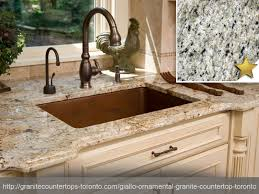 giallo ornamental granite countertop design idea