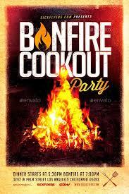 Bonfire Cookout Party Flyer Download Bbq Party Flyer