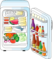 full refrigerator clipart. cartoon refrigerator with food clipart full r