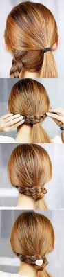 the braid wrapped ponytail