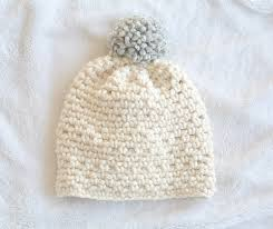 Bulky Yarn Crochet Hat Patterns Fascinating Ski Lodge Chunky Crochet Pom Hat Pattern Mama In A Stitch