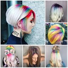 2018 Hair Color Ideas With Rainbow