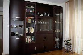 wall unit contemporary living room