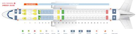 Seat Map Embraer Erj 190ar Air Canada Best Seats In Plane