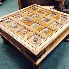 rustic indian style coffee table