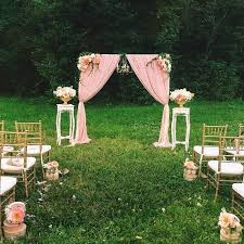 vintage ceremony outdoor wedding ceremony pink wedding decorations wedding ideas decorations and dresses wedding altars pink wedding decorations