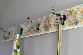 Command Strip Coat Rack Custom DIY Wall Mounted Coat Rack Boho Style House Of Hawthornes