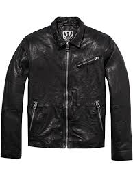 men lightweight leather jacket