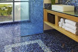 catchy glass floor tiles bathroom with the pros and cons of mosaic glass tile flooring