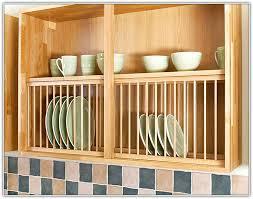 kitchen cabinet plate rack insert home design ideas