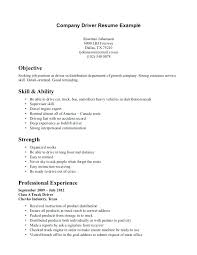 Transportation Resume Examples Ambulance Driver Resume Company Example Page Objective Examples