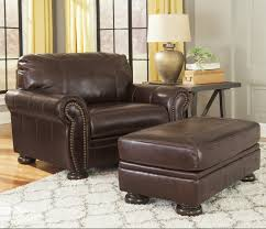 signature design by ashley banner chair and a half ottoman item number 5040423