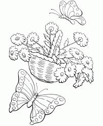 Spring Flowers Coloring Pages Kids Flower Coloring Pages Of The