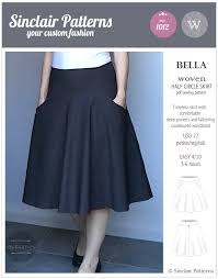Skirt Patterns With Pockets Custom Bella Half Circle Woven Skirt With Pockets PDF Sinclair Patterns
