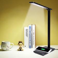 Touch Control Led Desktop Lamp Qi Draadloze Opladen Voor Samsung