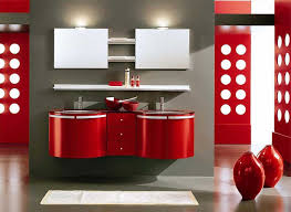 Red Bathroom Decor Bathroom Plush Colorful Bathroom Ideas With Red Floating