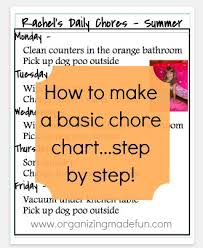 How To Make A Simple Chore Chart Step By Step Organizing