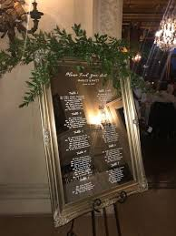 Slc Bees Seating Chart Mirror Seating Chart Wedding Seating Chart Gold