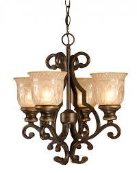 crystorama norwalk 4 light bronze mini chandelier