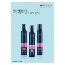 Indola Color Color Chart Color Style Mousse