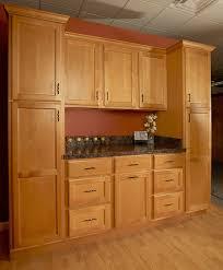 JSI's Bristol Collection Golden One Wall Kitchen Set Simple One Wall Kitchen Designs Set