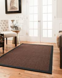 3x5 talas black sisal area throw rug carpet