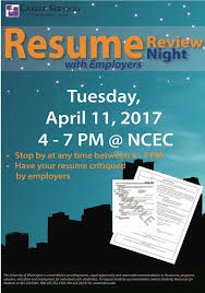 Resume Review Night With Employers Career Services UW Bothell Beauteous Resume Review Services