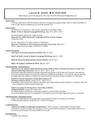 Speech Pathology Resume Impressive Occupational Therapist Resume Template Therapists Best Speech