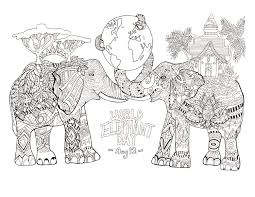 coloring page drawn by rylee postulo for the world elephant day aug 12 coloring free book elephant