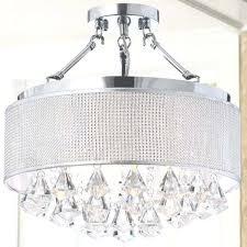 semi flush mount crystal chandelier rhinestone silver shade semi flush mount crystal pertaining to semi flush semi flush mount crystal chandelier