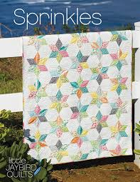 New Jaybird Quilts Pattern: Sprinkles Baby Quilt! | Jaybird Quilts & Quilt Details. Fabric is Sew & Sew by Chloe's Closet for Moda. Pattern -  Sprinkles, JBQ 160. Designed by me. Quilted by Angela Walters. Started on  2/29/16 Adamdwight.com