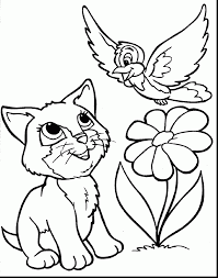 Small Picture Amazing cute animal coloring pages with funny cats coloring pages