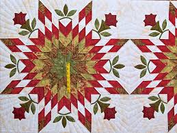 Starburst Quilt -- gorgeous skillfully made Amish Quilts from ... & ... King Sage and Red Starburst Quilt Photo 4 ... Adamdwight.com