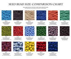 Seed Bead Size Comparison Chart Tools Pinterest Collar