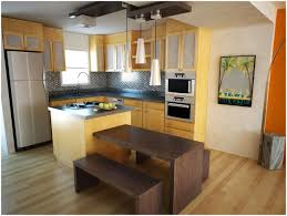 Small Narrow Kitchen Kitchen Making A Small Kitchen Island Colorful Wood Floor Idea