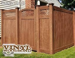 brown vinyl fence. Brown Vinyl Fence Panels Lattice Top T\u0026G 22421. «« O