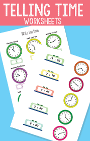 Telling Time Worksheets - Revision to The Quarter Hour - Easy ...