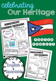hispanic family activities. Celebrating Our Heritage Poster Project For Hispanic Month Family Activities