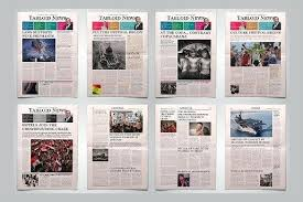 Creative Newspaper Template Crimson Dignity Funeral Program Tabloid Word Publisher