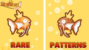 All Magikarp Patterns Cool Magikarp Jump DIAMONDS FOR NEW RARE APRICOT AND BROWN MAGIKARP