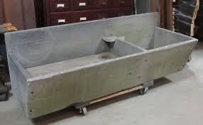 high low soapstone sink