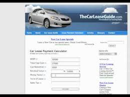 car leases calculator car lease calculator youtube