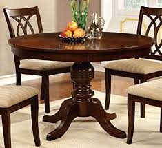 Image Unavailable. not available for. Color: Carlisle Brown Cherry Wood Round Dining Table Amazon.com - by