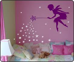 extravagant fairy wall art decor pixie dust star wand decal tinkerbell w falling vinyl 35 00 vium sticker uk south africa canva door tail garden mirror