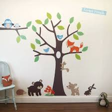 enchanted forest wall decals woodland tree wall stickers forest friends wall  sticker and walls forest friends