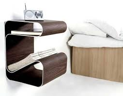 Exotic Wall Mounted Bedside Table