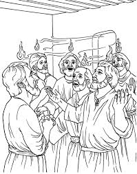 Small Picture The Day of Pentecost Coloring Page